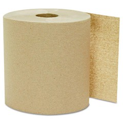 Hardwound Roll Towels, Kraft, 8 x 800'