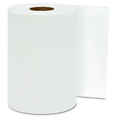 Hardwound Roll Towels, White, 8 x 350'