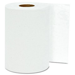 Hardwound Roll Towels, White, 8 x 300'