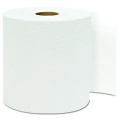 Hardwound Roll Towels, White, 8 x 800'