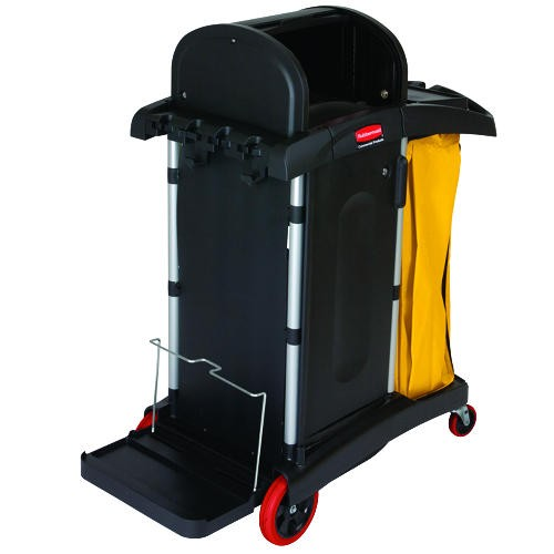 Health Care Janitor Cart, Lock Cabinet Doors, JCAHO-Compilant