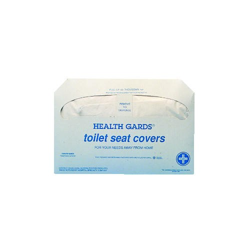 Health Gards white  Paper Toilet Seat Covers,  Half-Fold, 250 Covers / Pack