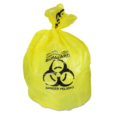 Healthcare Biohazard Printed Can Liners, 30 gal, 1.3 mil, 30
