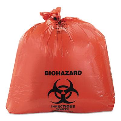 Healthcare Biohazard Printed Can Liners, 45 gal, 3 mil, 40