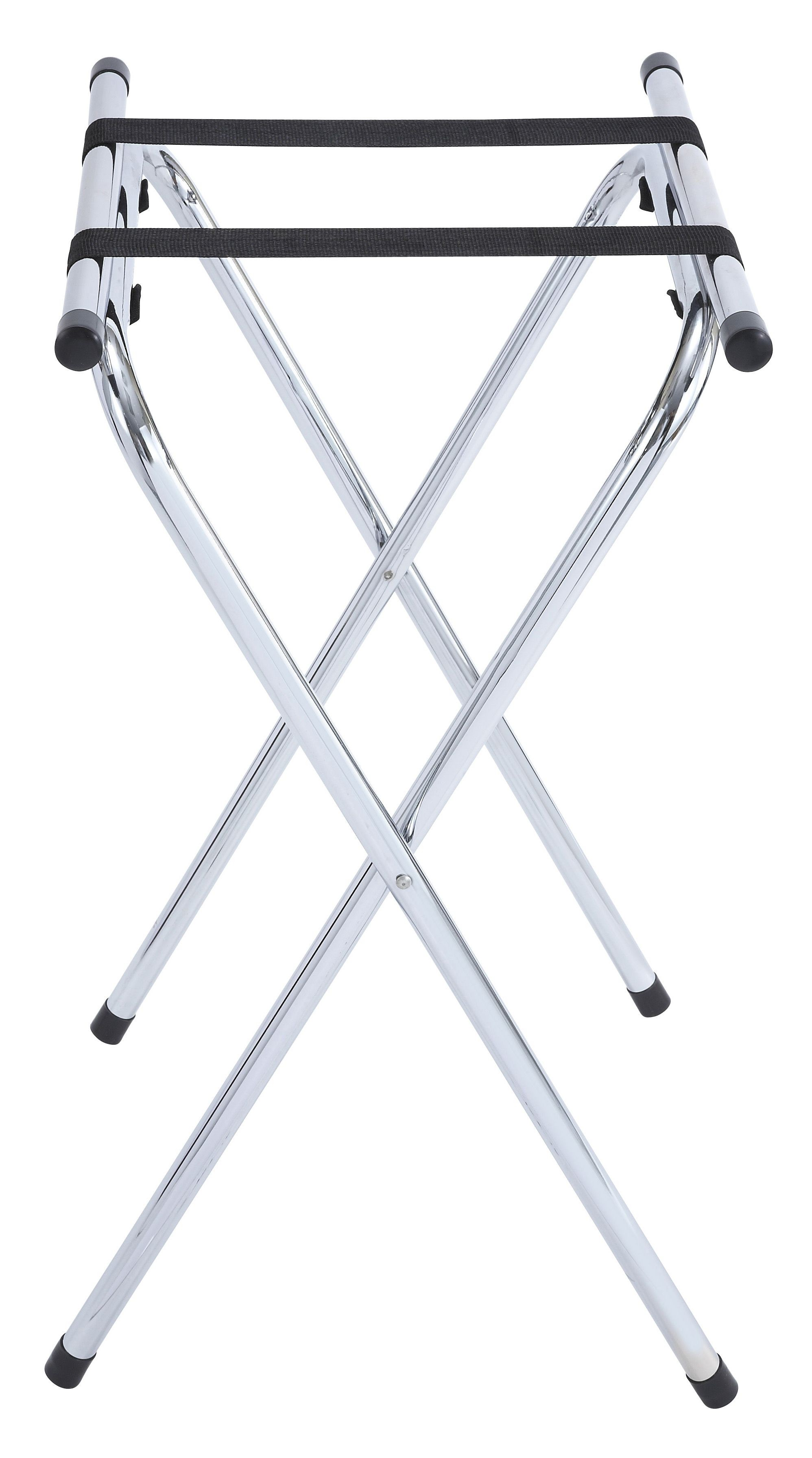 Winco TSY-1A Chrome Folding Tray Stand 31""