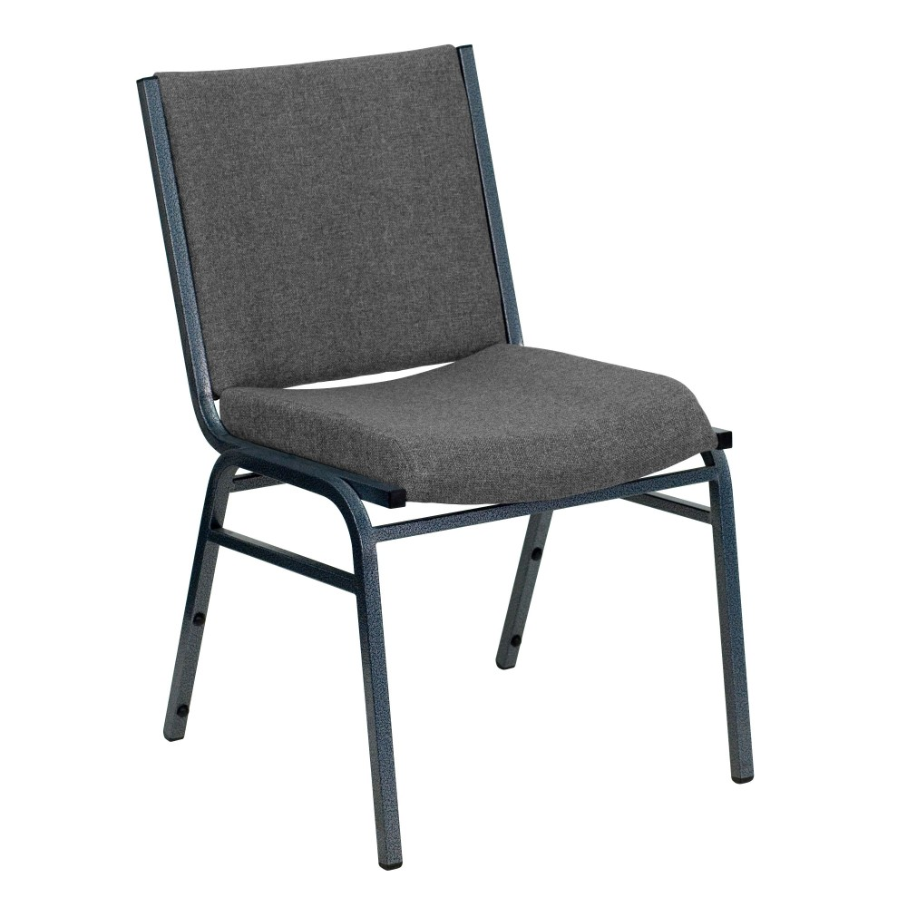 Flash Furniture xu-60153-gy-gg Heavy Duty, 3'' Thickly Padded, Gray Patterned Upholstered Stack Chair