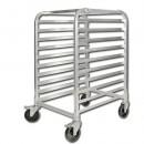 Winco ALRK-10BK 10-Tier Aluminum Pan Rack with Brakes