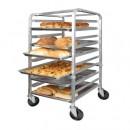 Winco ALRK-10-KIT 10-Tier Aluminum Sheet Pan Rack Kit: Includes 10 Sheet Pans & Sheet Pan Rack Cover