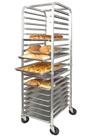 Winco alrk-20-kit 20-Tier Aluminum Sheet Pan Rack Kit: Includes 20 Sheet Pans & Sheet Pan Rack Cover