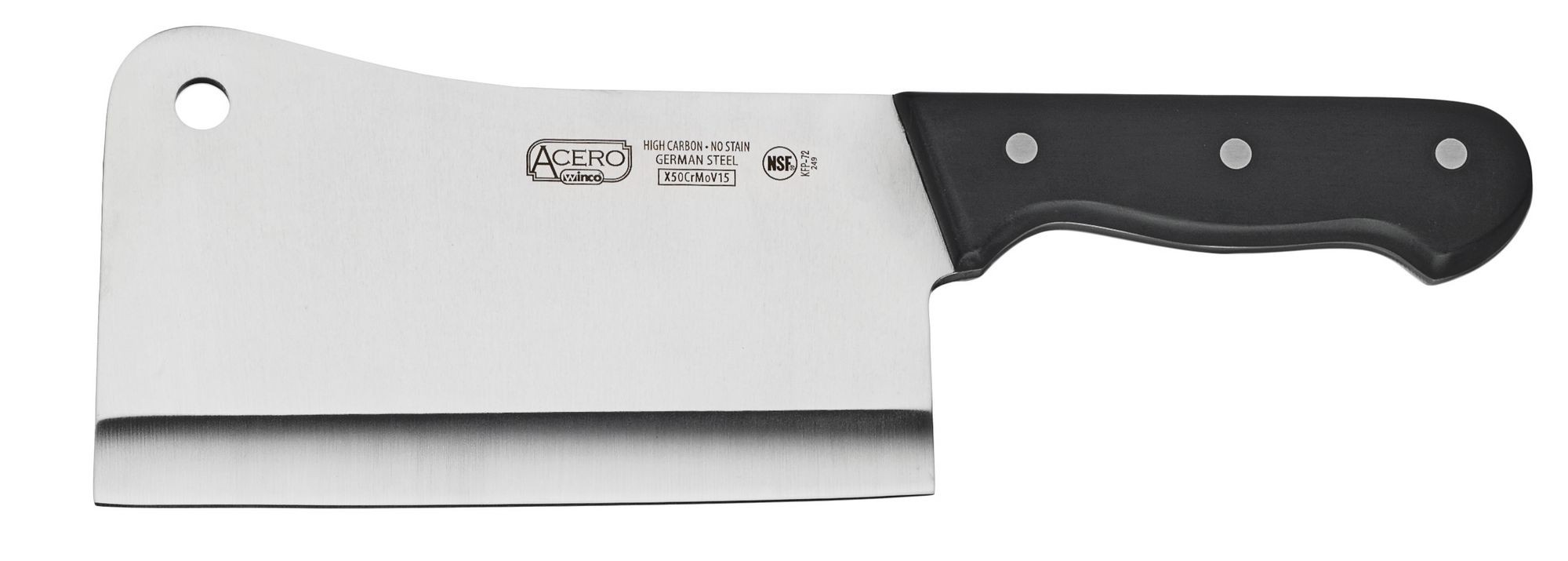 "Winco KFP-72 Heavy-Duty 7"" Cleaver with POM Handle"
