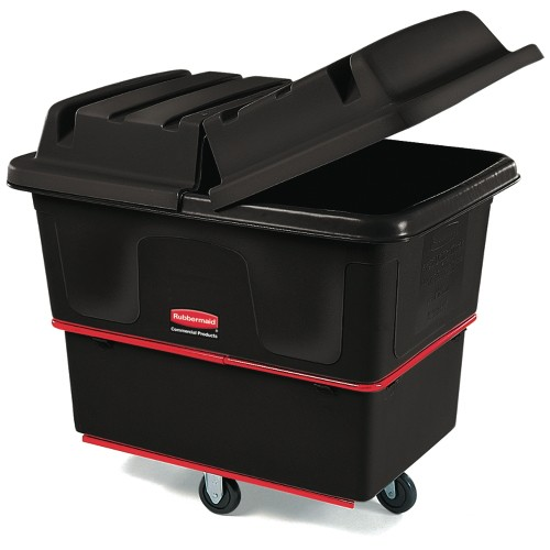 Heavy-Duty Cube Truck, 800 lb Capacity, 12 Cubic ft, Black