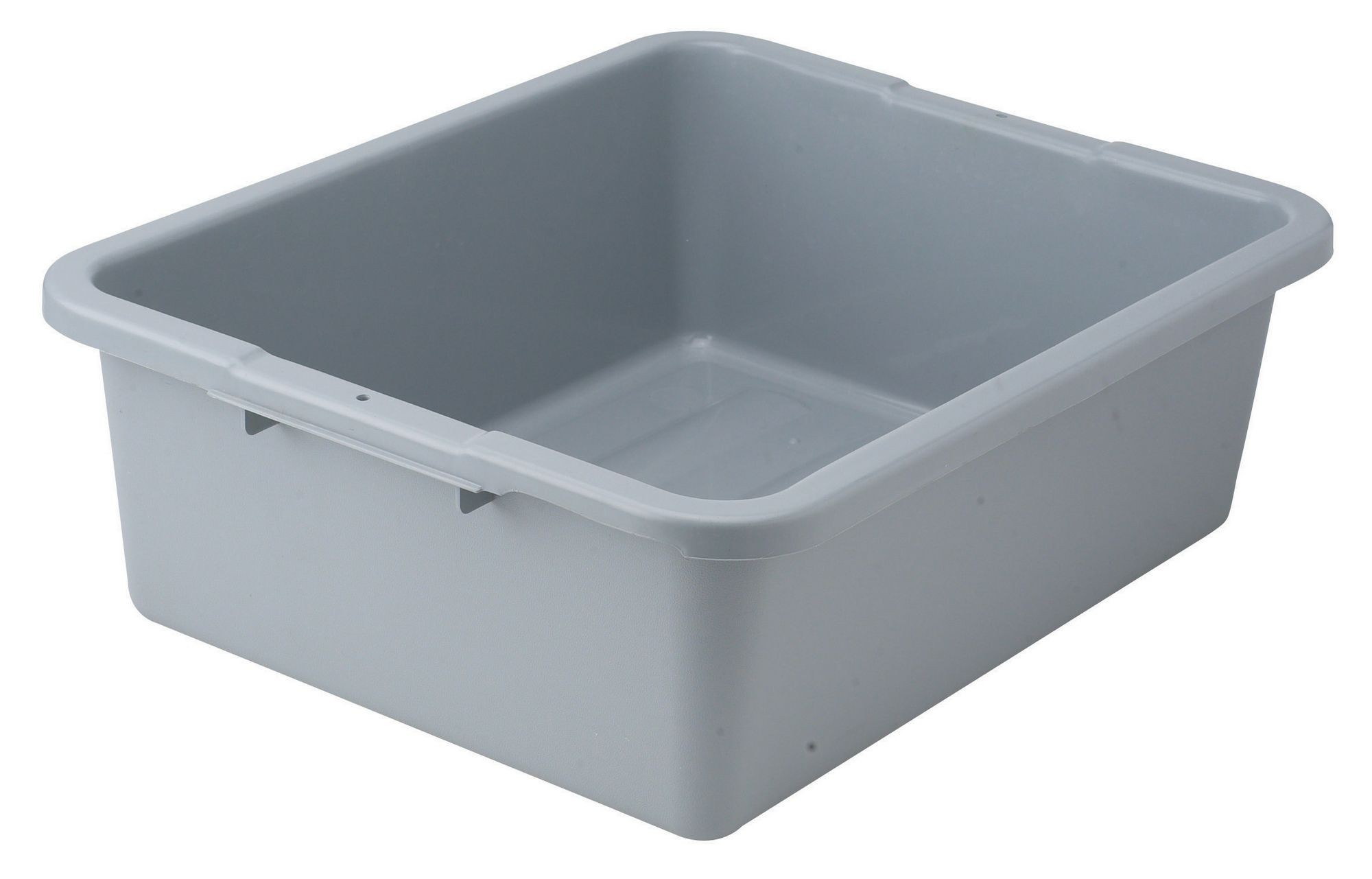 "Winco PLW-7G Gray Heavy Duty Dish Box 21"" x 17"" x 7"""