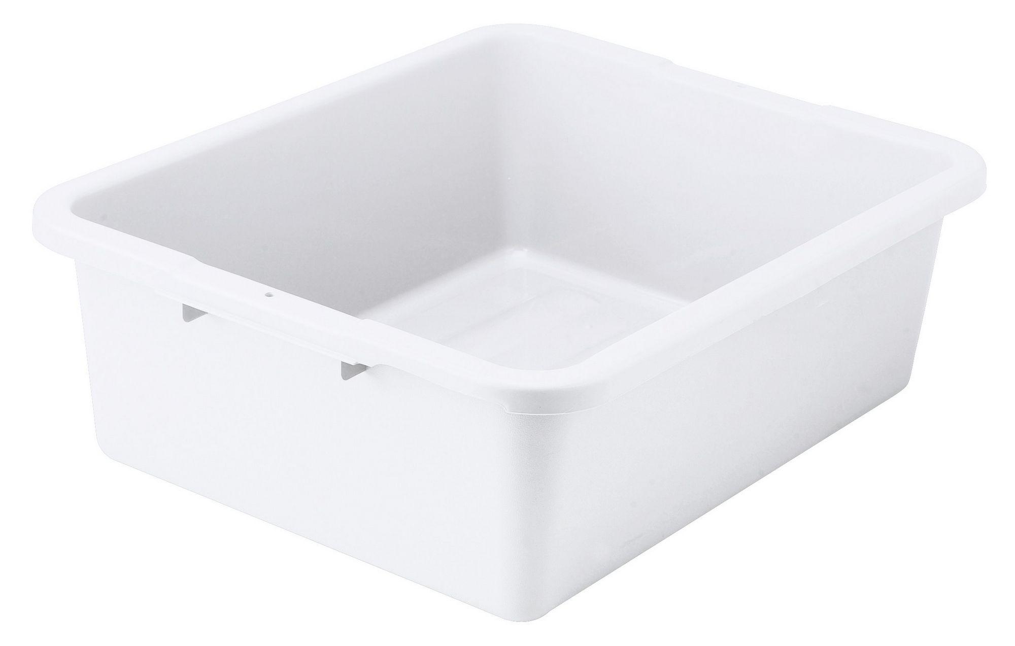 """Winco PLW-7W White Heavy-Duty Dish Box 21"""" x 17"""" x 7"""""""