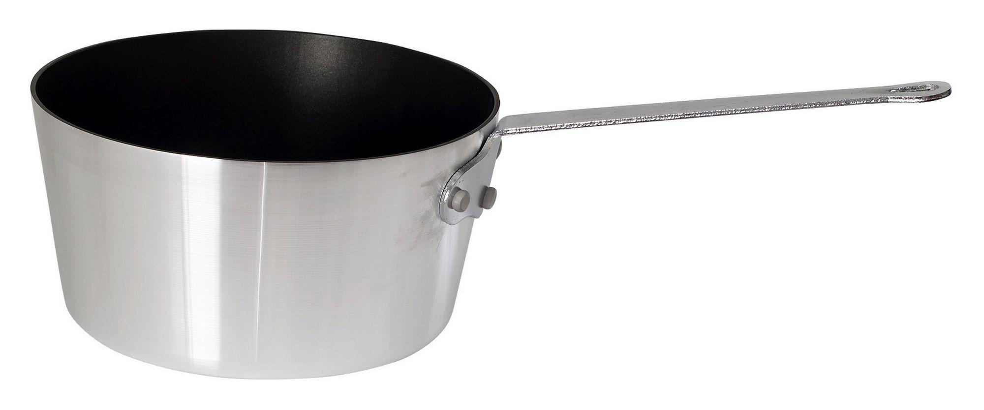 Winco ASP-4NS Heavy Duty Non-Stick Aluminum Sauce Pan, 4 1/4 Qt.