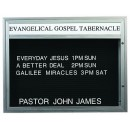 """Aarco Products BM3647   Single Sided Outdoor  Community Board Illuminated with Header, Satin Adonized 36""""H x 47"""" W"""