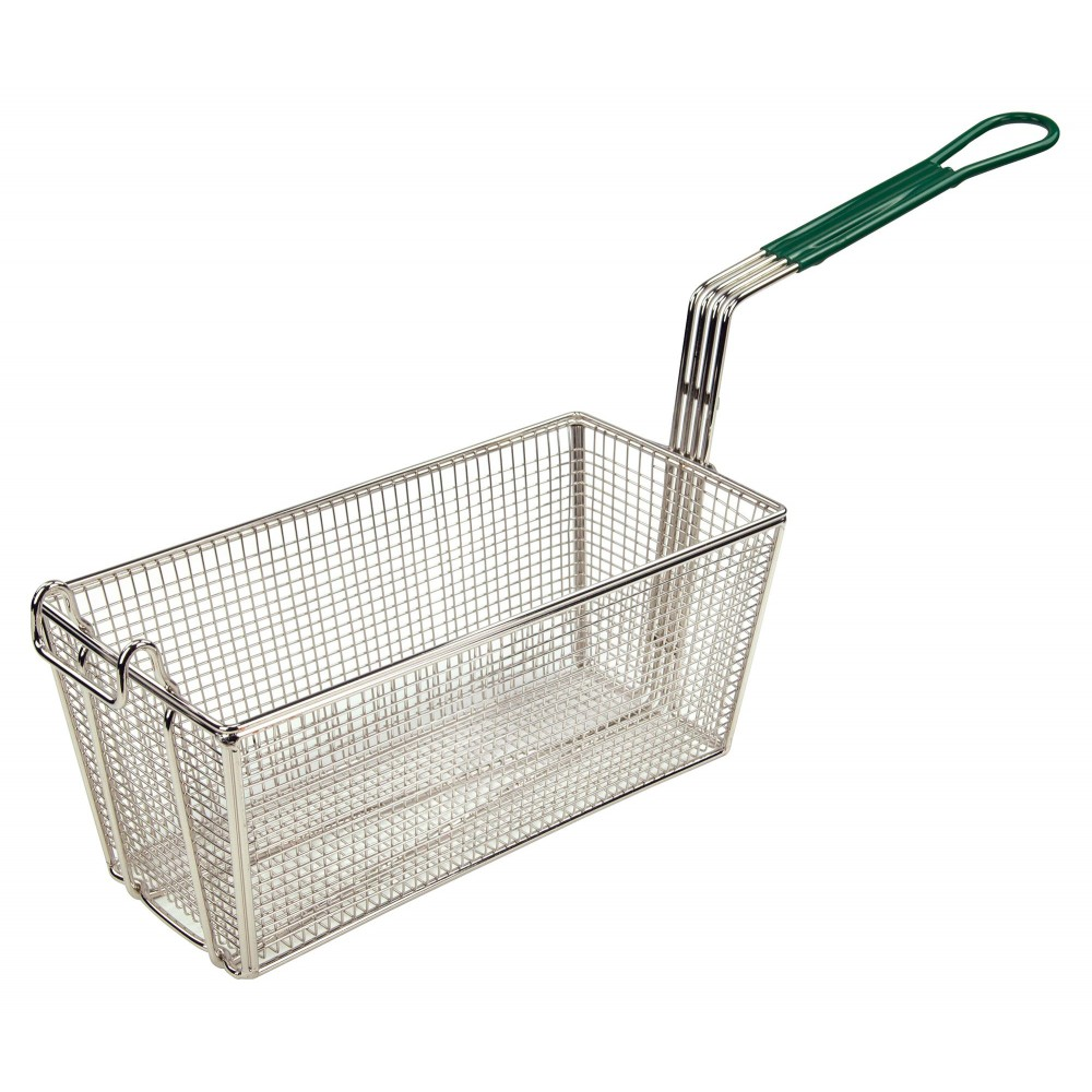 Heavy Duty Plastic Handle Fry Basket - 13-1/4 X 6-1/2 X 5-7/8