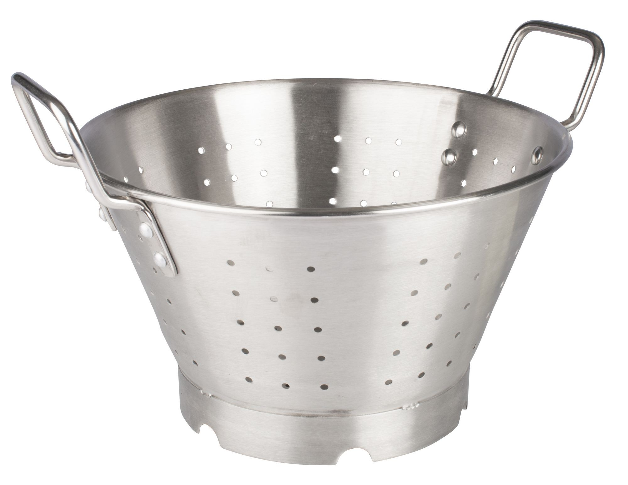 Winco SLO-11 Heavy Duty Stainless Steel Colander, 11 Qt.