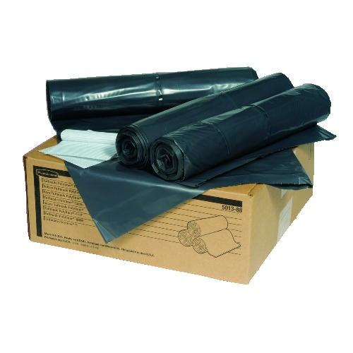 Heavy-Duty Trash Can Liner, 55 Gallon, Gray