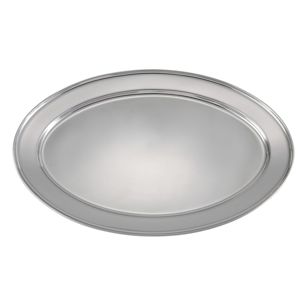 Heavy Stainless Steel Oval Platter - 20 X 13-3/4