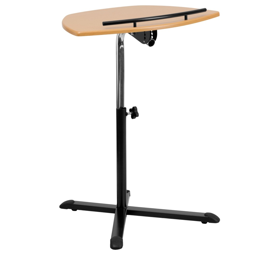 Height Adjustable Cherry Laptop Computer Desk