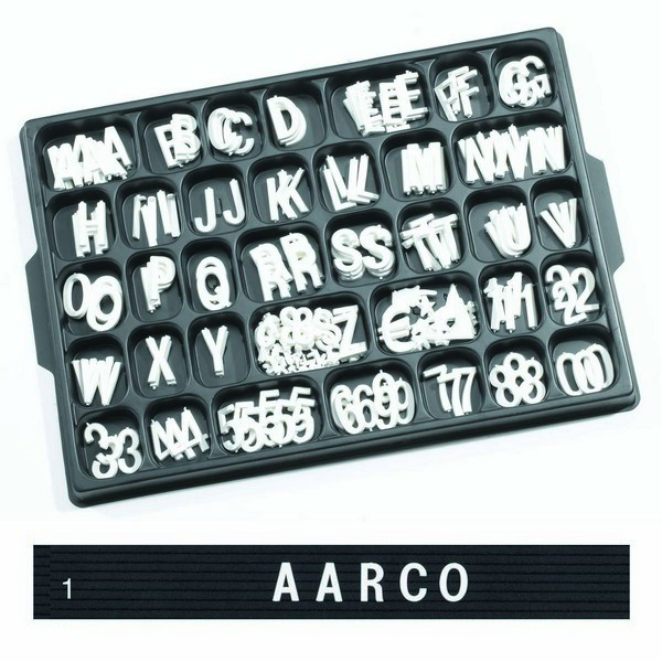 "Aarco Products HF1.0 Helvetica Typeface 1"" Plastic Letters"