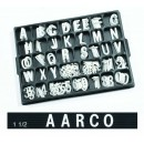 "Aarco Products HF1.5 Helvetica Typeface 1 1/2"" Plastic Letters"