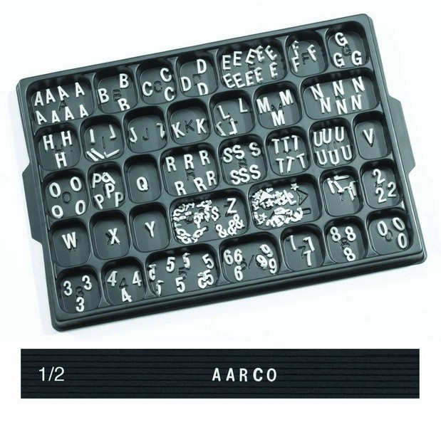 "Aarco Products HF.50 Helvetica Typeface 1/2"" Plastic Letters"