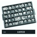 "Aarco Products HF.75 Helvetica Typeface 3/4"" Plastic Letters"