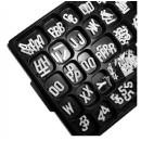 "Aarco Products HFD.75 Helvetica Typeface 3/4"" Plastic Letters, Double Set"