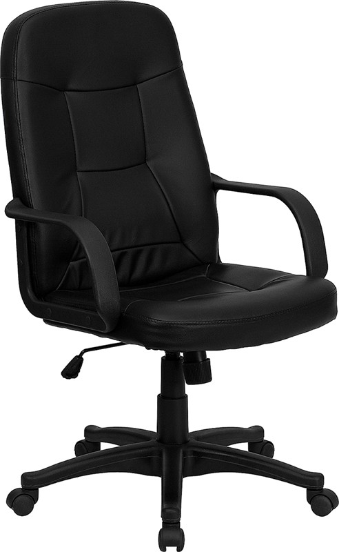 Flash Furniture H8021-GG High Back Black Glove Vinyl Executive Office Chair