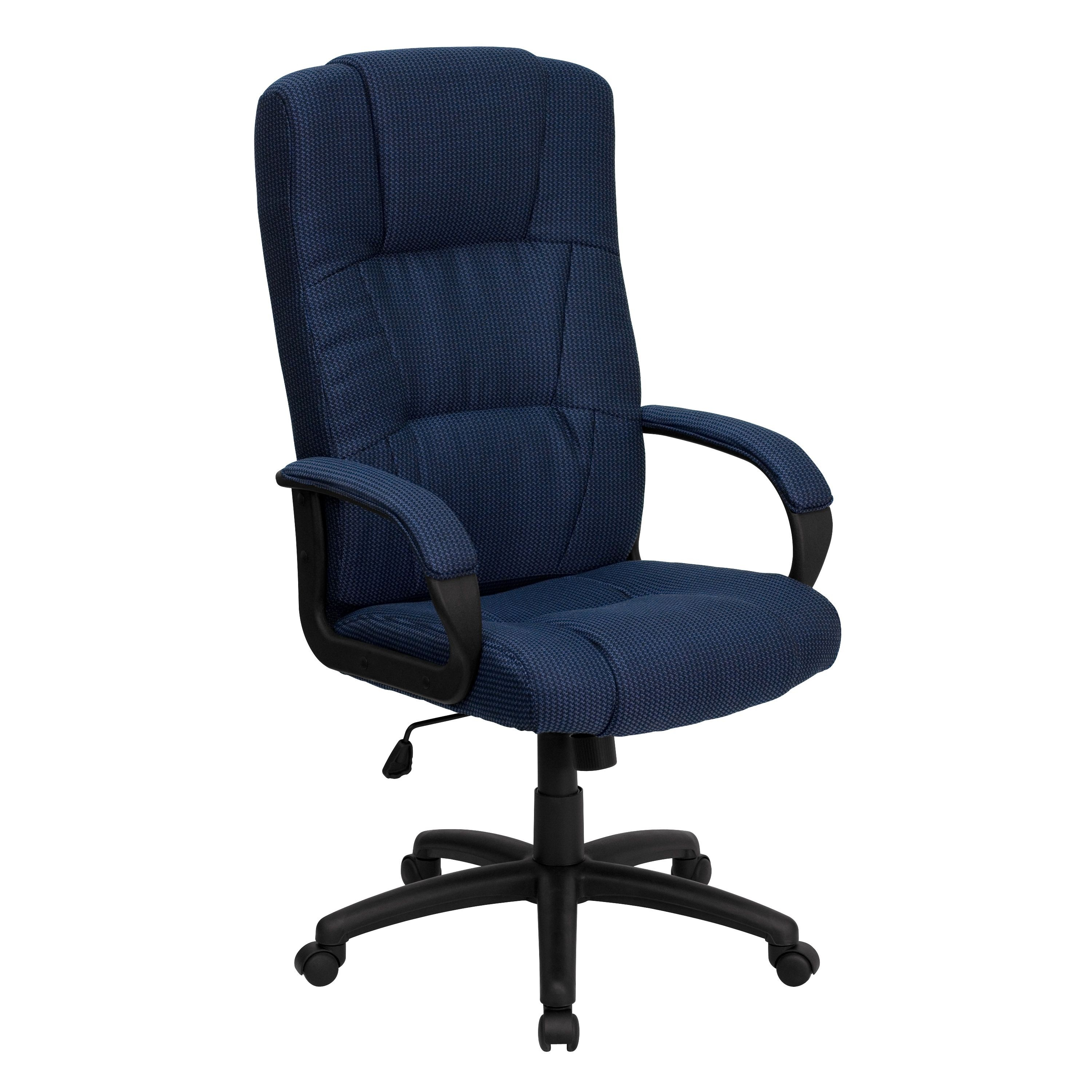 Flash Furniture BT-9022-BL-GG High Back Executive Fabric Office Chair, Blue