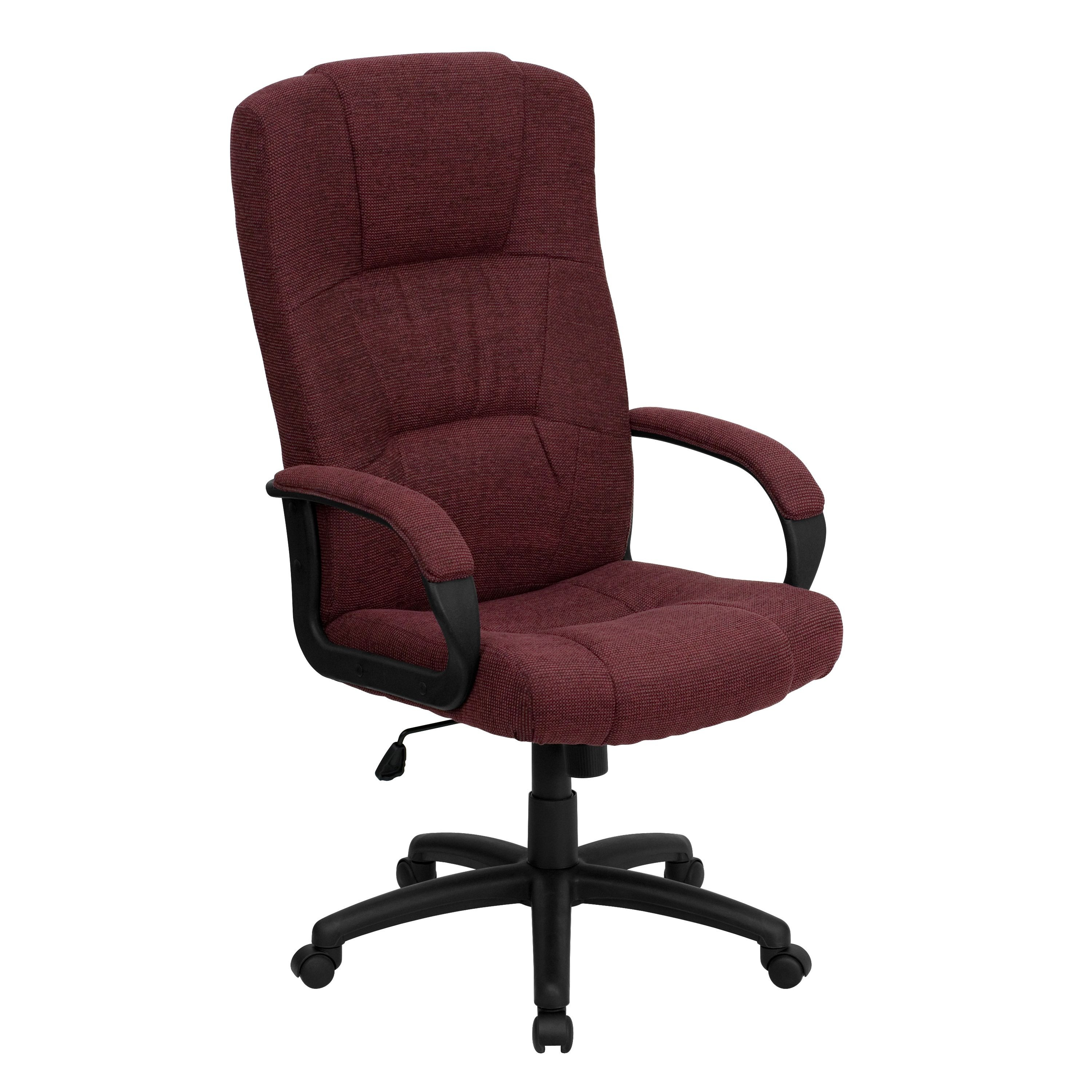 Flash Furniture BT-9022-BY-GG High Back Executive Fabric Office Chair, Red