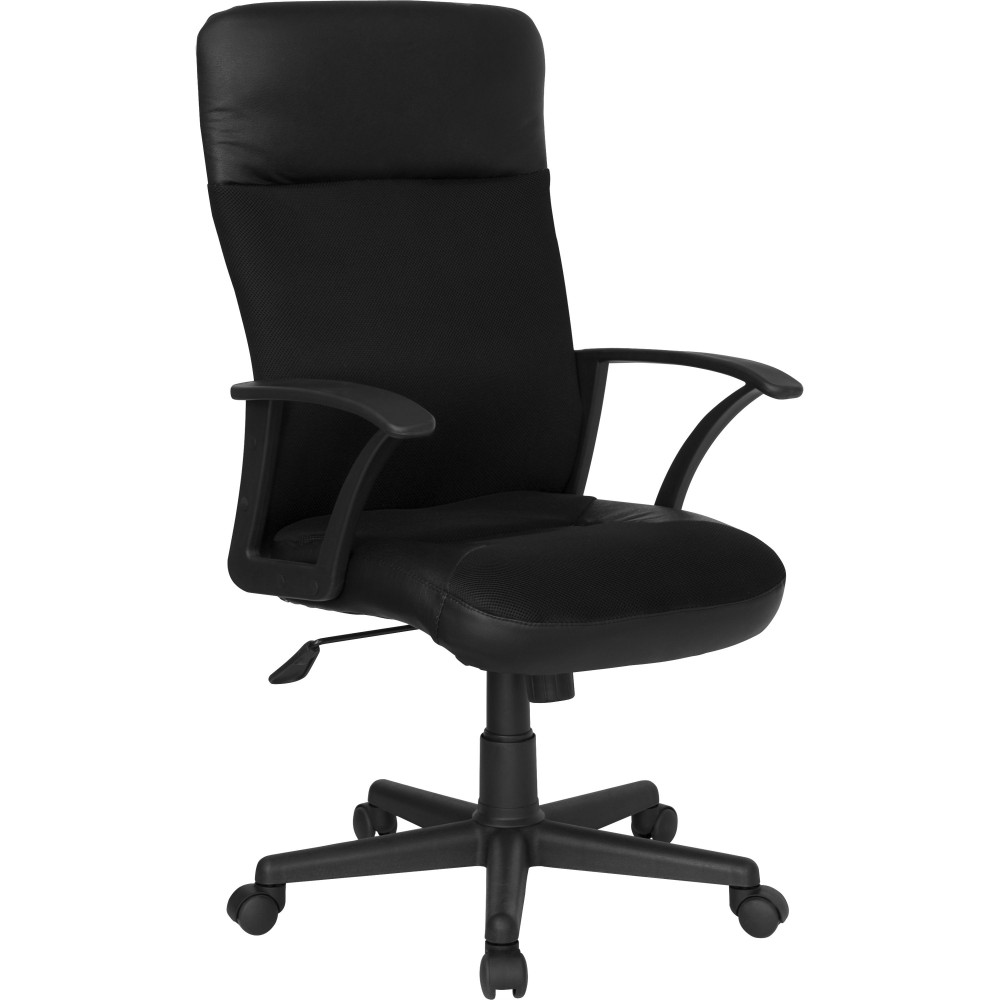 Flash Furniture CP-A142A01-GG High Back Leather/Mesh Combination Executive Swivel