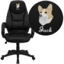 High Back Leather Contemporary Office Chair