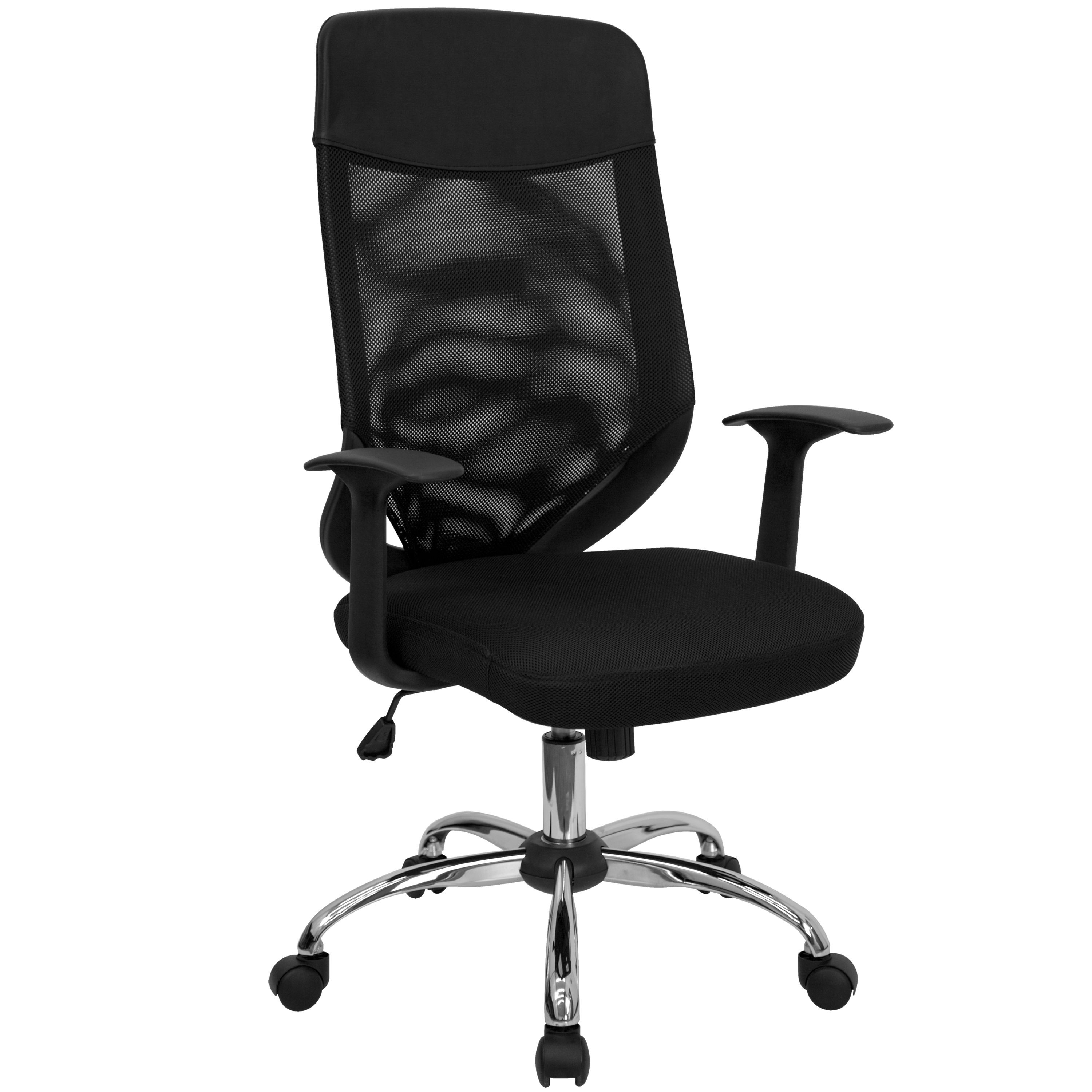 Flash Furniture LF-W952-GG High Back Mesh Office Chair with Mesh Back and Mesh Fabric Seat