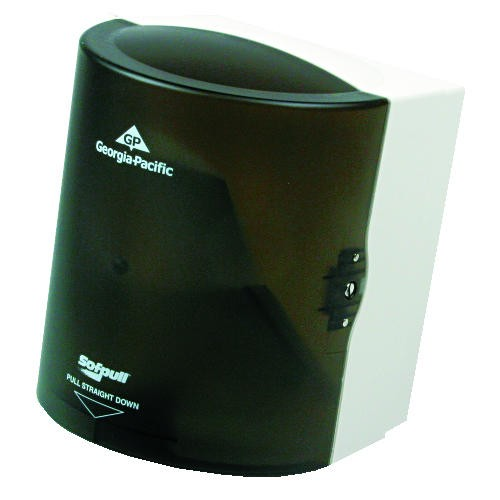 High Capacity Sofpull Center-Pull Hand Towel Dispenser, Translucent-Smoke