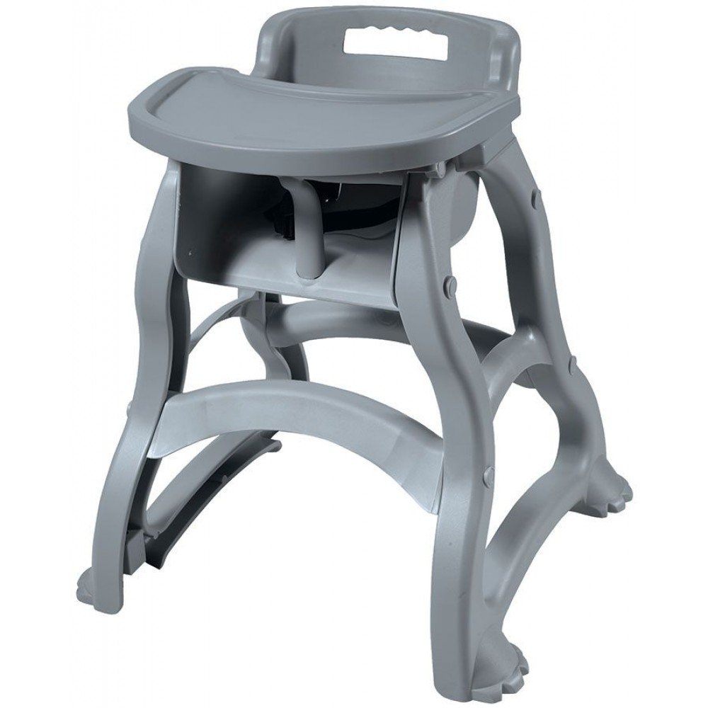 """Gray Plastic High-Chair with Tray 25-1/2""""W x 23""""D x 29-1/2""""H"""