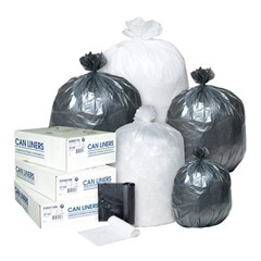 High-Density Can Liner, 38 x 60, 60-Gallon, 16 Micron, Clear, 25/Roll