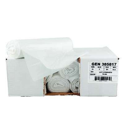 High-Density Can Liner, 43 x 46, 56-Gallon, 13 Micron Equivalent, Clear, 20/Roll