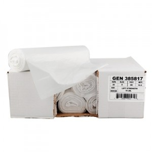 High-Density Can Liner, 43 x 46, 56-Gallon, 14 Micron Equivalent, Clear, 20/Roll