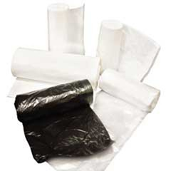 High-Density Can Liners, 24 x 33, 15-Gallon, 8 Micron, Black, 1000/Case