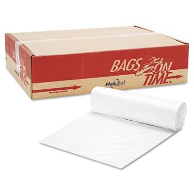 High-Density Can Liners, 40 x 48, 45-Gallon, 22 Micron, Clear, 25/Roll