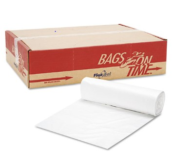 High-Density Can Liners, 40 x 48, 45-Gallon, 14 Micron, Clear, 250/Case