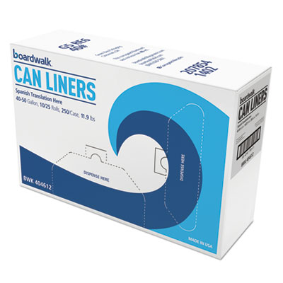 High-Density Can Liners, 45 gal, 10 microns, 40