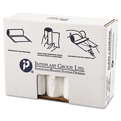 High-Density Commercial Can Liners Value Pack, 60 gal, 19 microns, 38