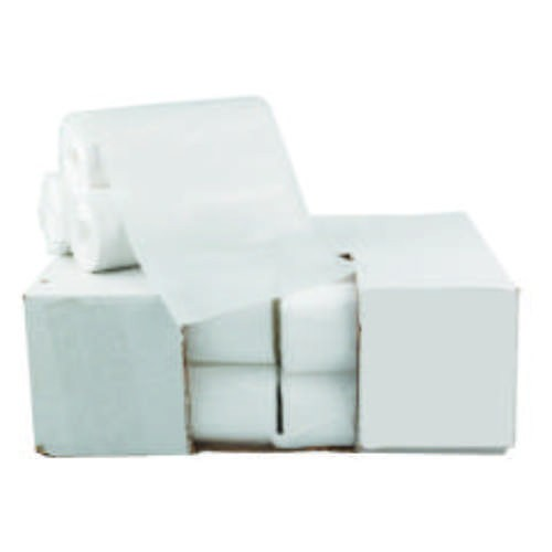 High-Density Garbage Can Liner, 43 X 46, Clear, 22 Mic