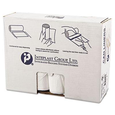 High-Density Interleaved Commercial Can Liners, 45 gal, 16 microns, 40