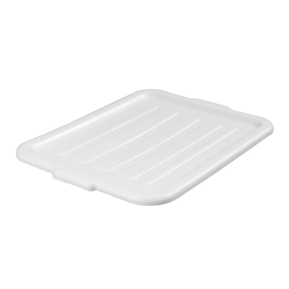TableCraft 1531N High Density Polyethylene White Food Storage Box Cover