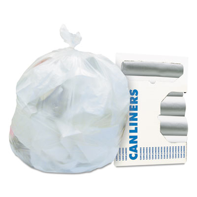 High-Density Waste Can Liners, 16 gal, 6 microns, 24