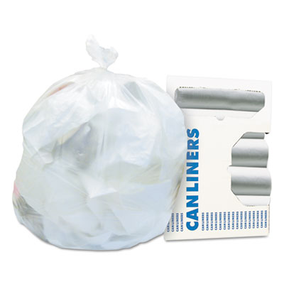 High-Density Waste Can Liners, 45 gal, 16 microns, 40